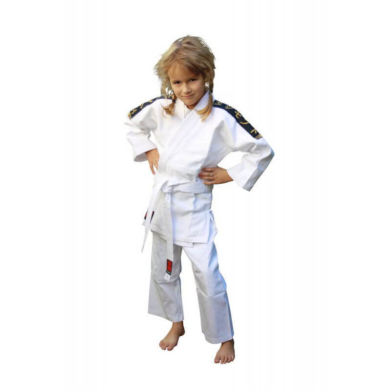 judogi koka label essimo bianco kids bambino fight club italy