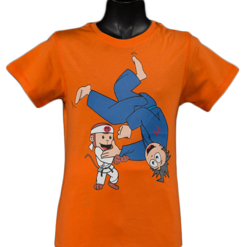 T-Shirt Ippon Orange Fighting Films Kids Bambini Fight Club Italy arancione