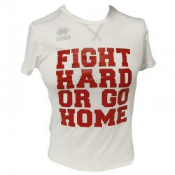 Fight Club Italy T-shirt Donna Marion bianco rosso Errea