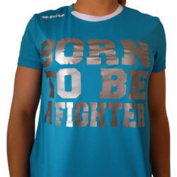 Fight Club Italy T-shirt Donna Ramos azzurro argento fighter Errea