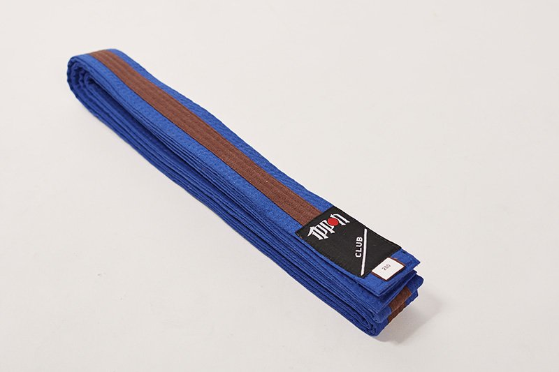 Cintura bi-colore Blu/Marrone